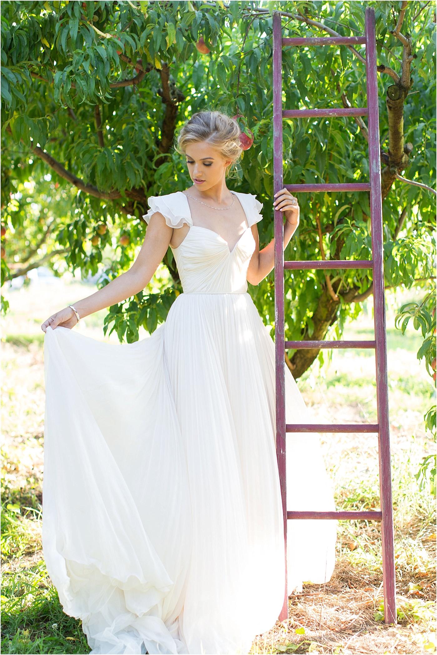 Rustic Peach Orchard Wedding Inspiration