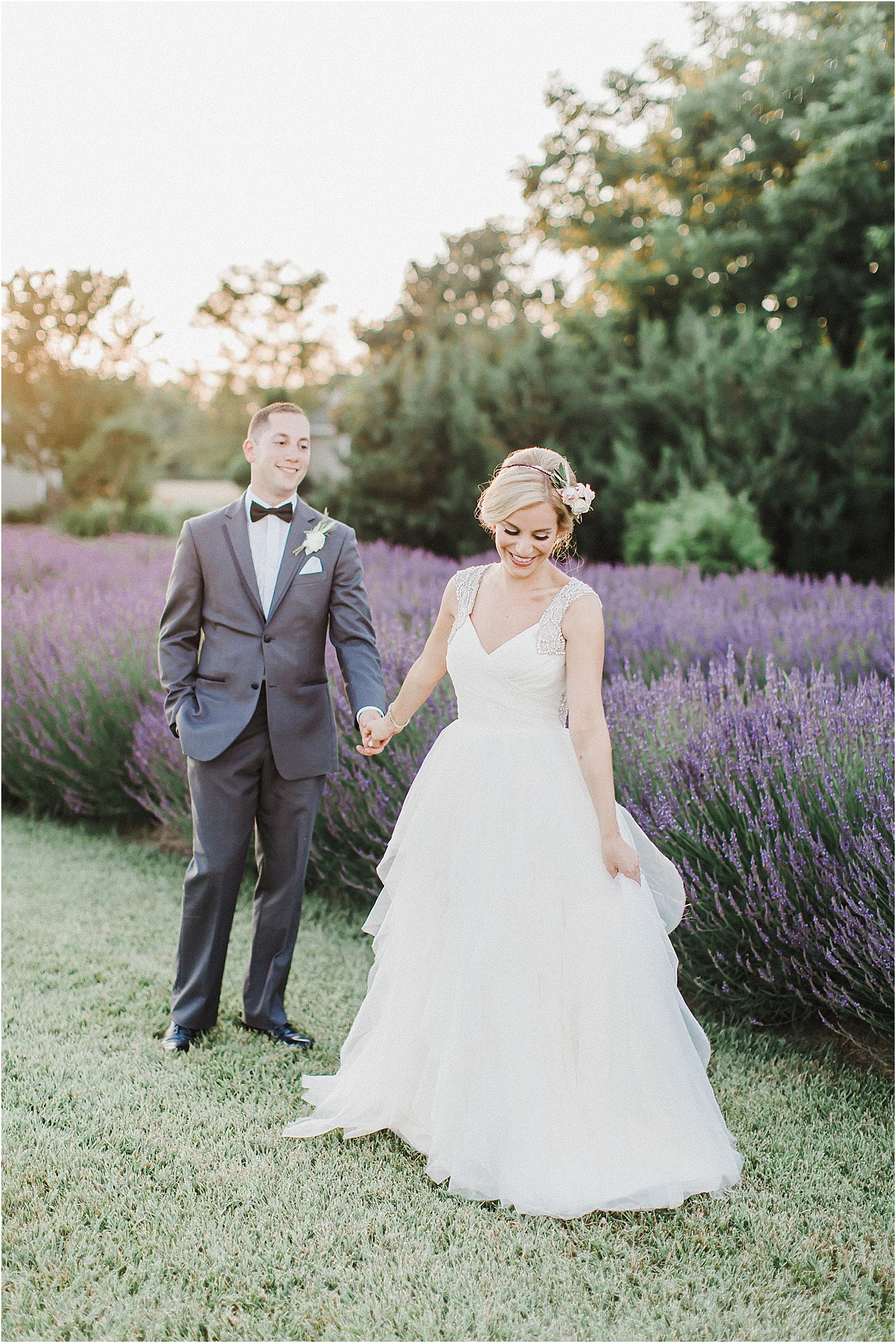 Lavender Field Bride and Groom Wedding Photos