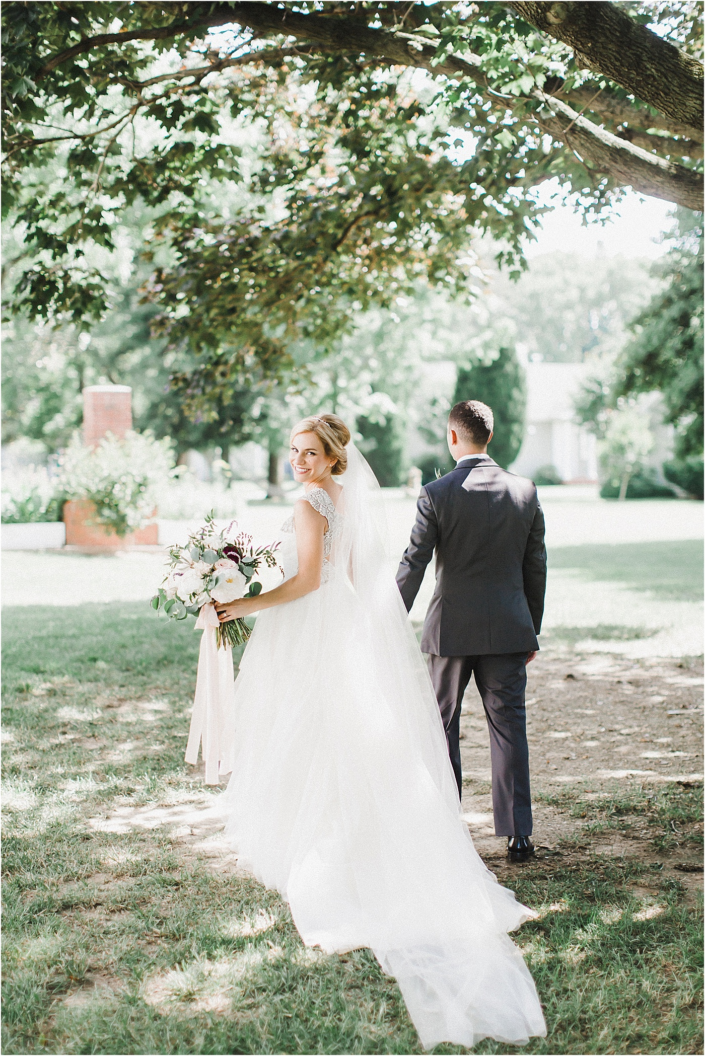 Garden Wedding at Inn at Huntingfield Creek Maryland