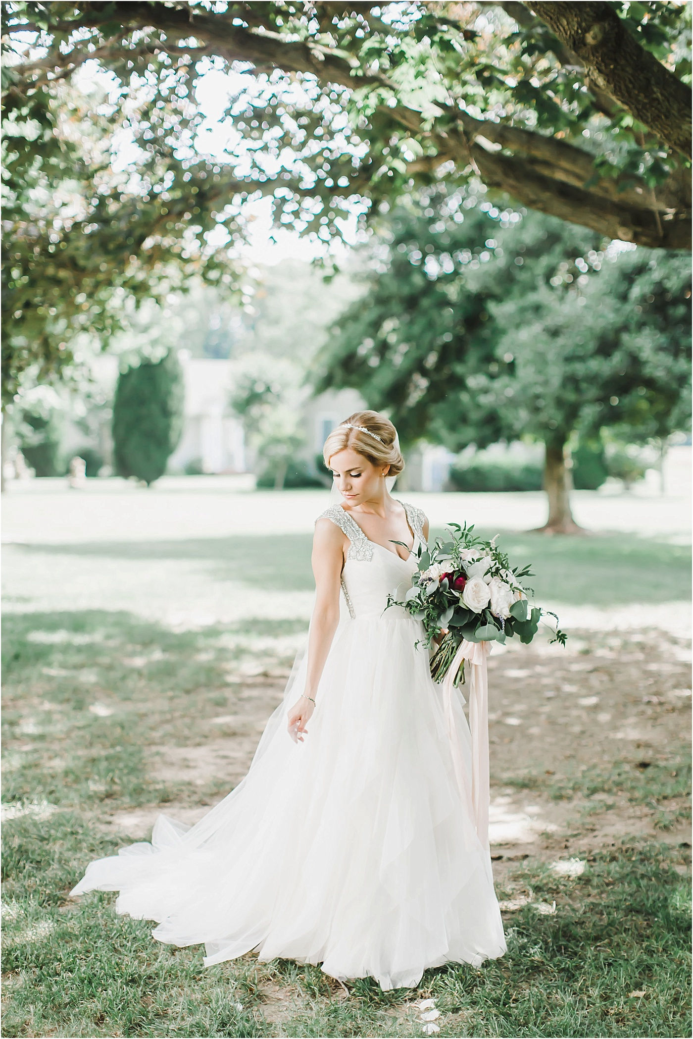 Beaded Hayley Paige Wedding Dress for an Outdoor Eastern Shore of Maryland Wedding