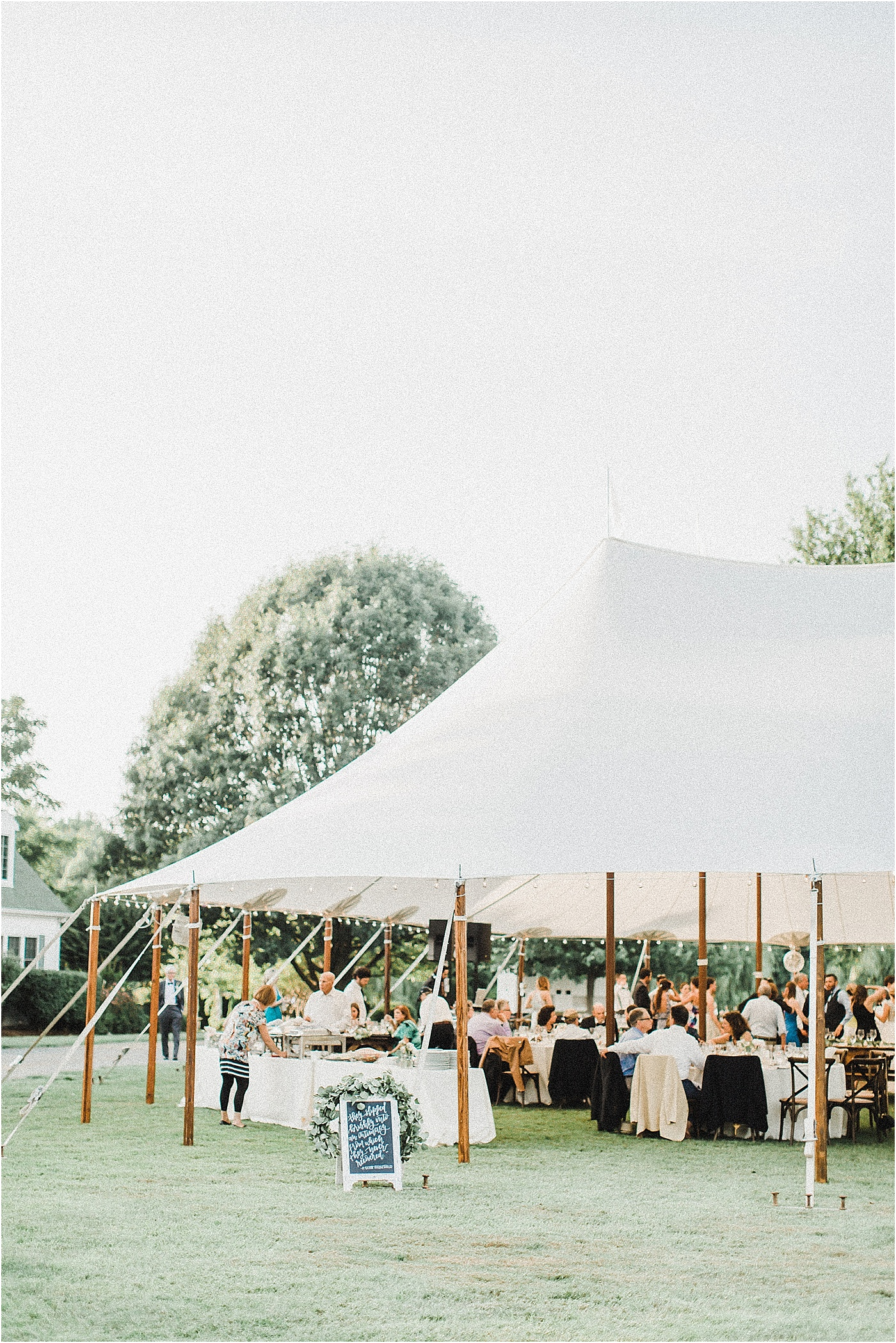 Sailcloth Tent Outdoor Reception Eastern Shore Maryland