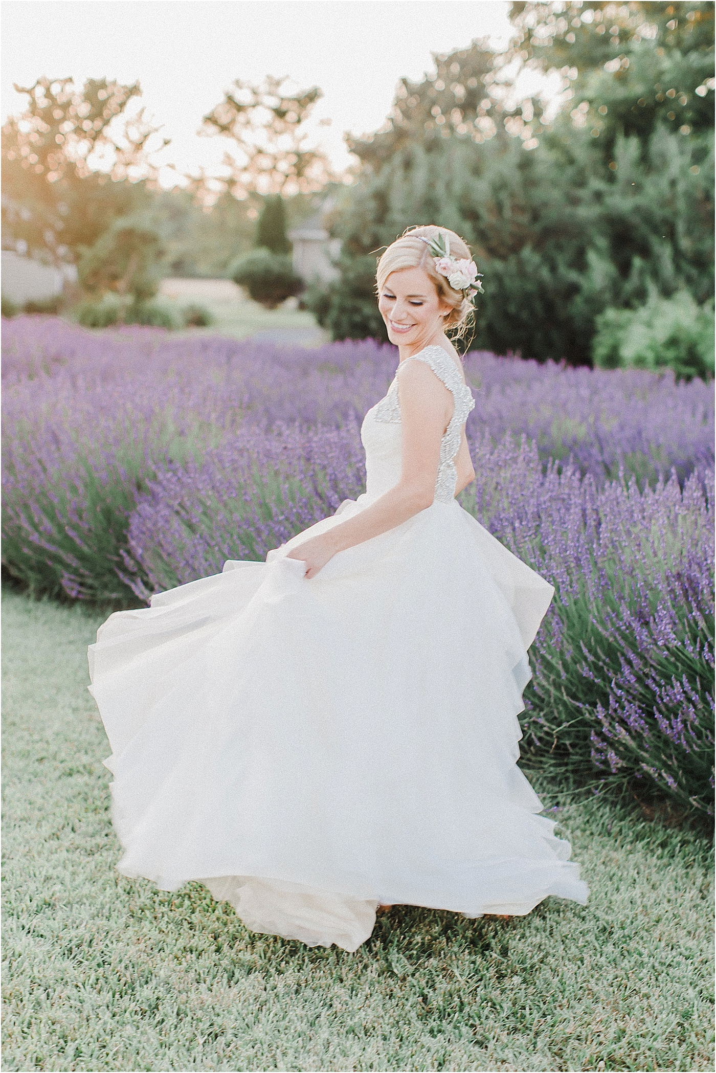 Lavender Field Bridal Photos + Hayley Paige Wedding Dress