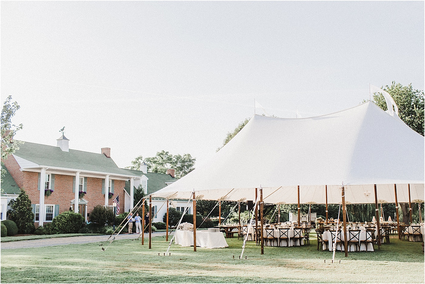 Sailcloth Tent Outdoor Wedding Reception