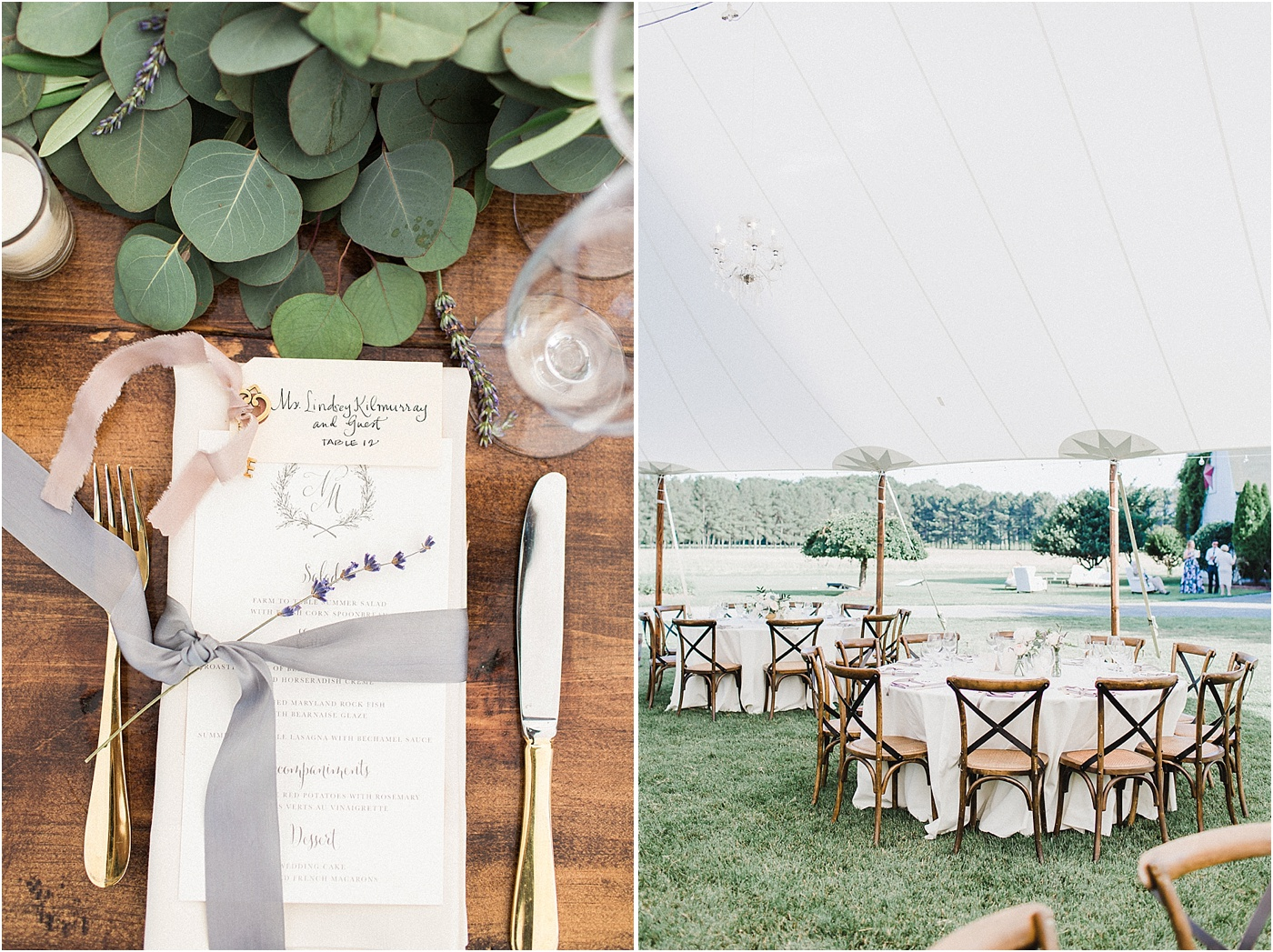 Sailcloth Tent Garden Wedding Maryland
