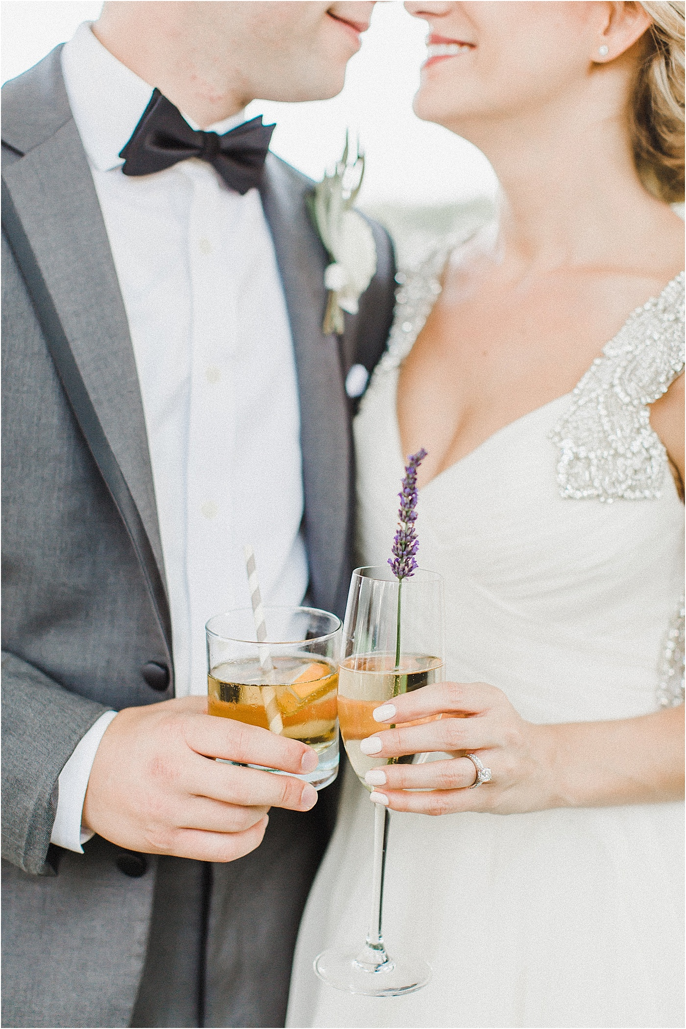 Signature Drink Wedding Champagne + Lavender