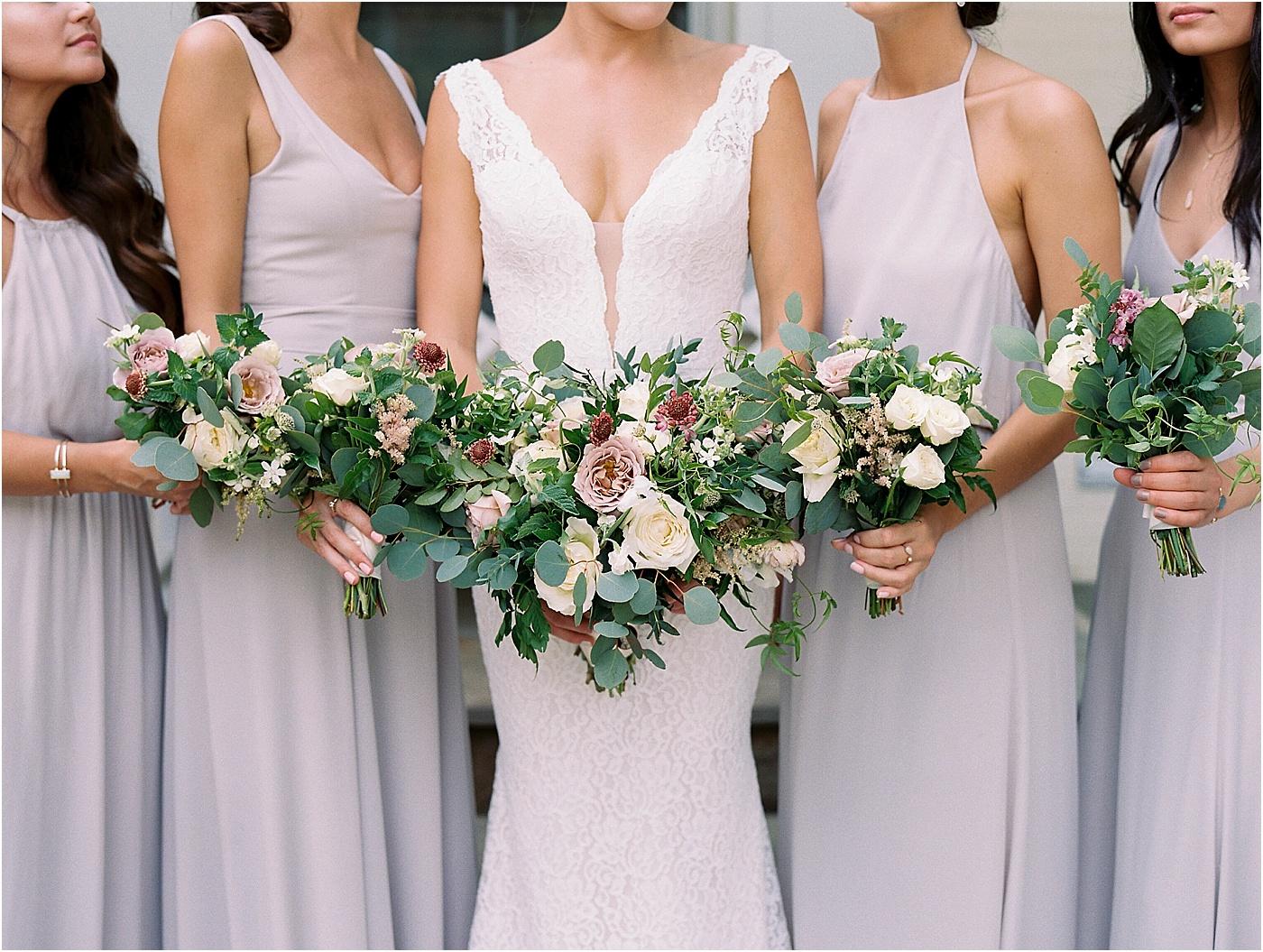 wedding bouquet greenery