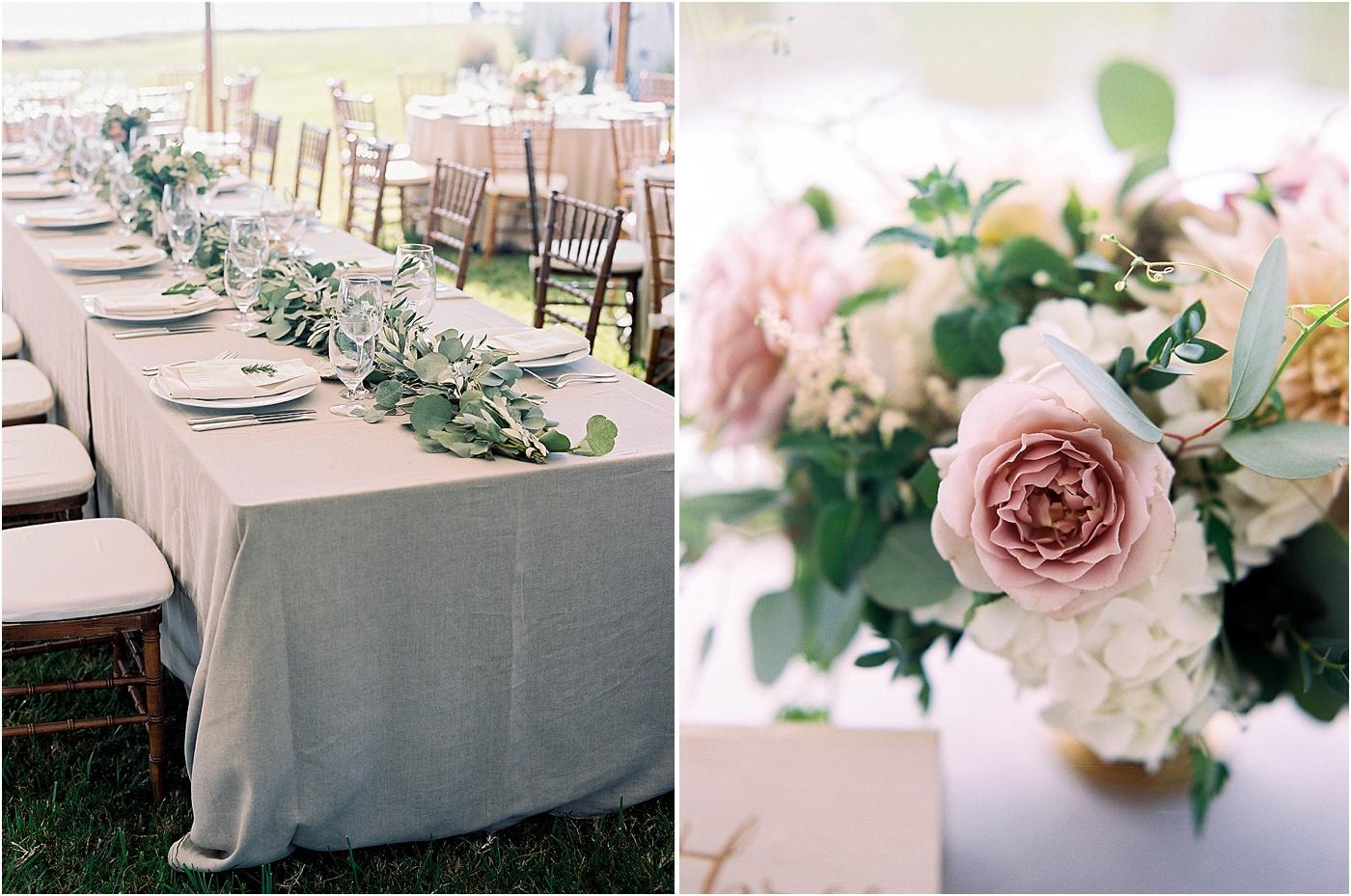 greenery rustic table setting wedding