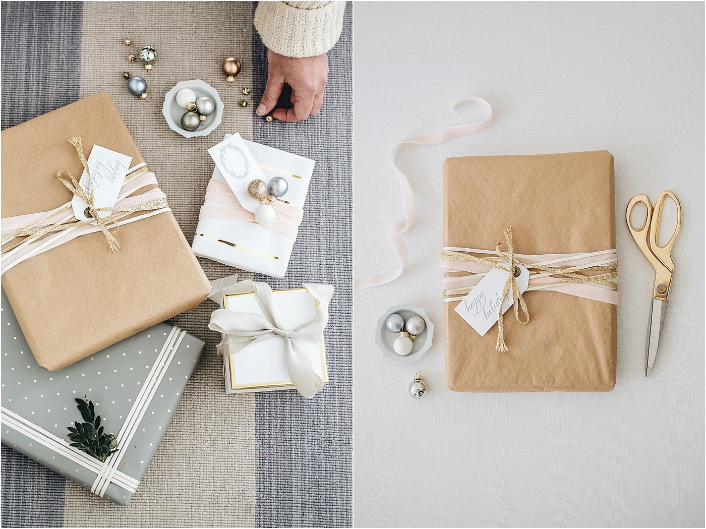 kraft paper wrapping, holiday, gift wrapping, gift guide, bride and groom, Sugar Paper LA, Target