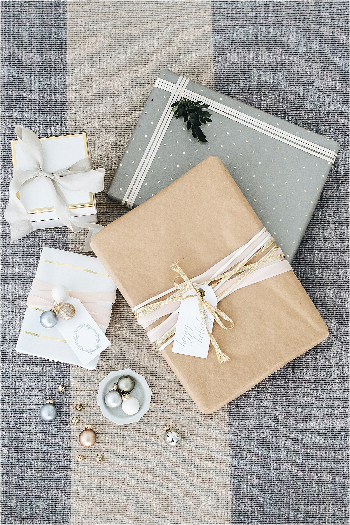 holiday wrapping, kraft paper, Sugar Paper LA, Target, neutral holiday wrapping
