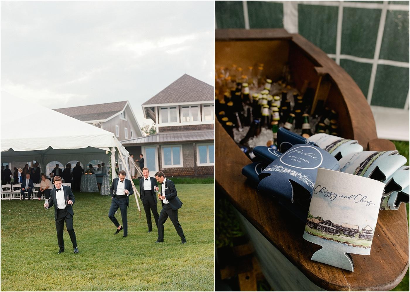 wedding name beer koozies