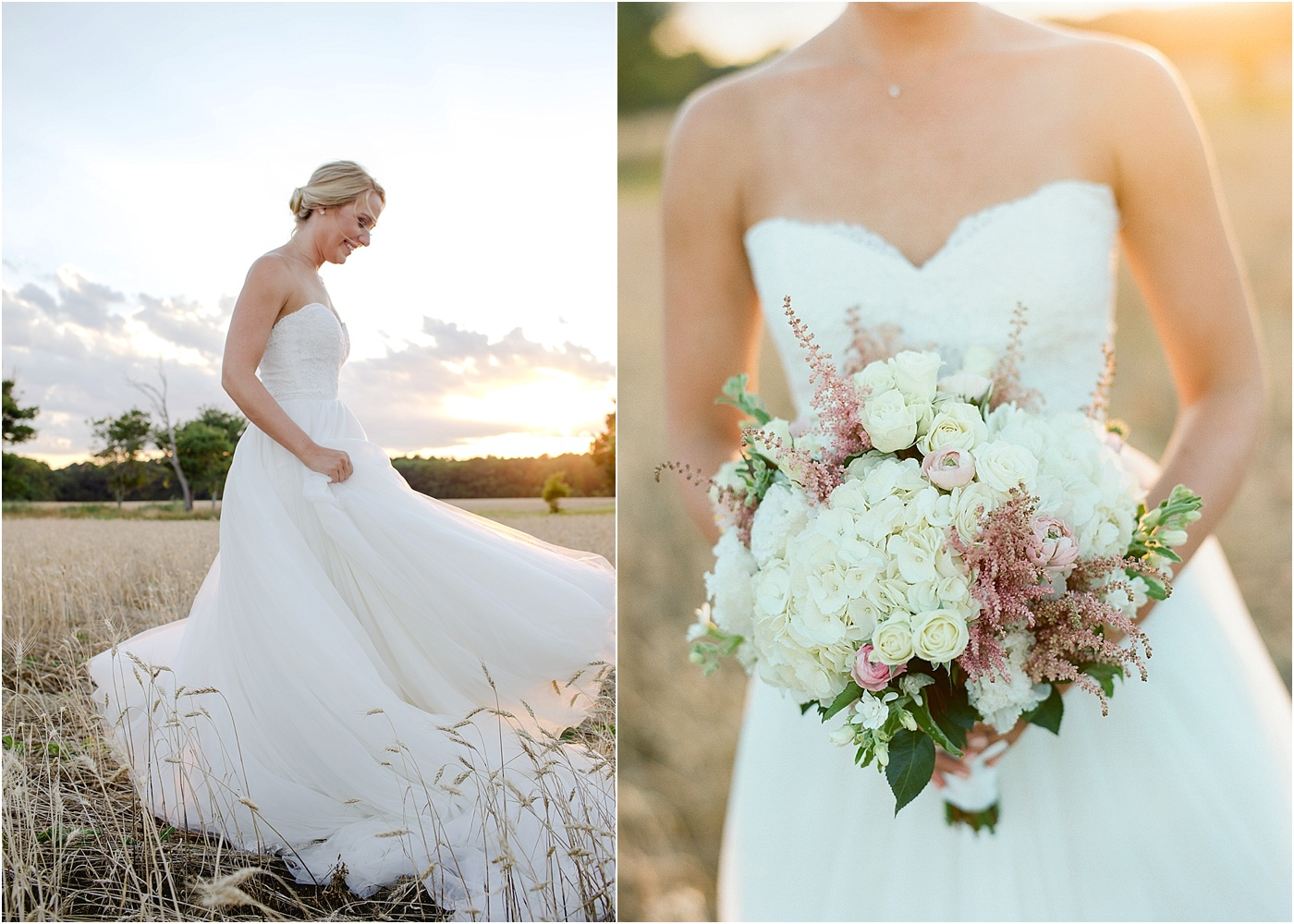 pink and white floral bouquet