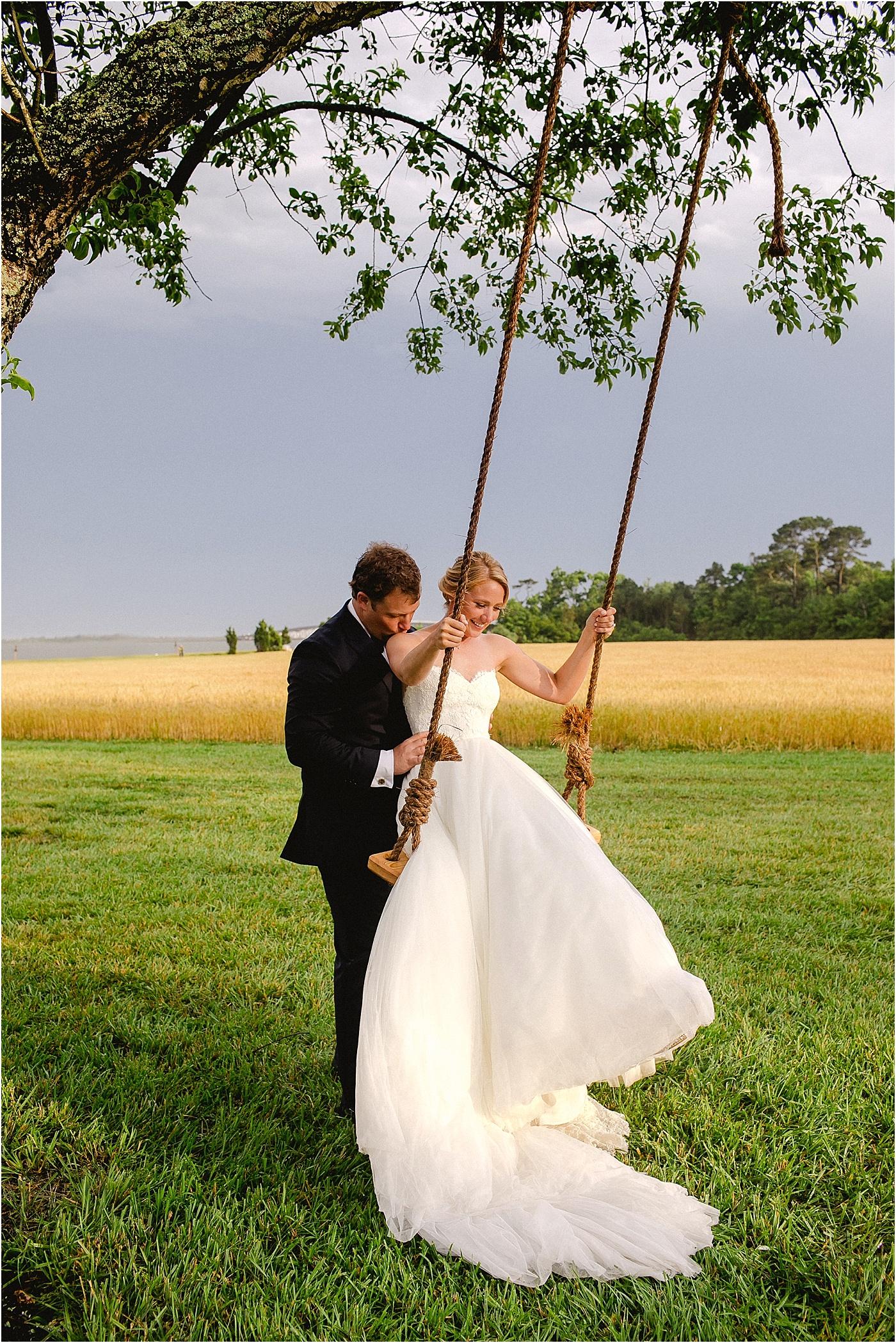 farm wedding swing set